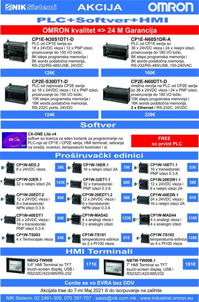 Акција на PLC+Softver+HMI